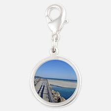 Bridge to Paradise Silver Round Charm