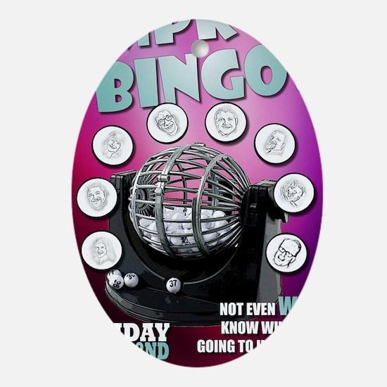 Improv Bingo Oval Ornament