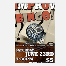 Bingo Improv - Takes Ball Postcards (Package of 8)