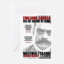 Emiliano Zapata: Indigenous Leader Greeting Card