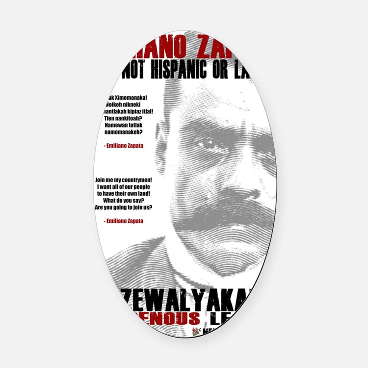 Emiliano Zapata: Indigenous Leader Oval Car Magnet
