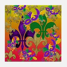 Mardi Gras Blast Tile Coaster