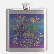 Mardi Gras Psycadelic Flask