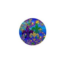 Mardi Gras Psycadelic Mini Button