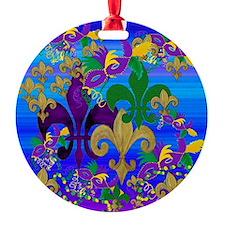 Mardi Gras Psycadelic Ornament
