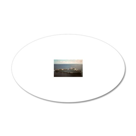 uss pensacola large framed p 20x12 Oval Wall Decal