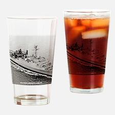 uss point defiance calendar Drinking Glass