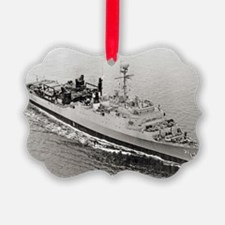 uss point defiance large framed p Ornament