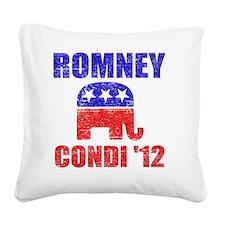 Romney Condi 2012 Square Canvas Pillow
