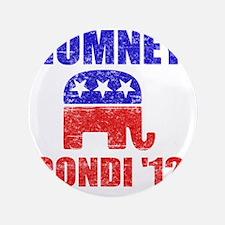 """Romney Condi 2012 3.5"""" Button"""