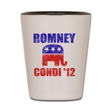 Romney Condi 2012 Shot Glass
