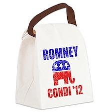Romney Condi 2012 Canvas Lunch Bag