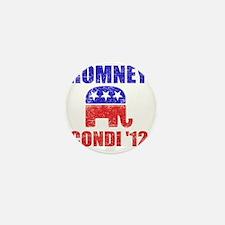 Romney Condi 2012 Mini Button