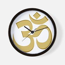 Om, Gold Wall Clock