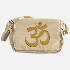 Om, Gold Messenger Bag