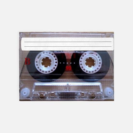 Cassette Music Tape 5'x7'Area Rug