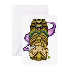 Smokin Tiki Greeting Card
