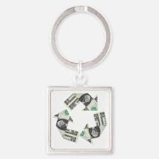 recycled money Square Keychain