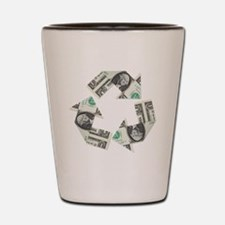recycled money Shot Glass