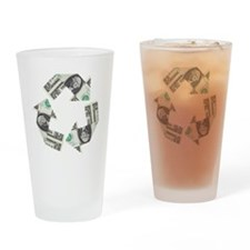 recycled money Drinking Glass