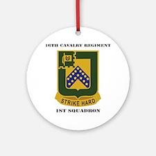 DUI - 1st Squadron - 16th Cavalry R Round Ornament