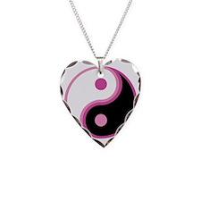 Yin Yang, Pink Necklace