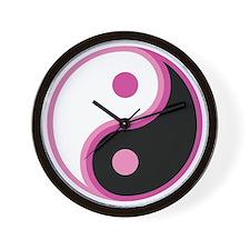 Yin Yang, Pink Wall Clock