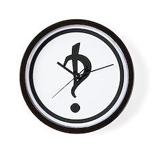Interrobang Logo Wall Clock
