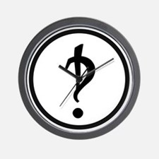 Interrobang Logo Wall Clock