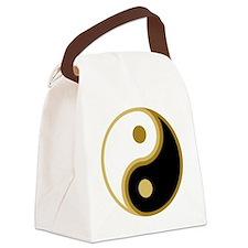 Yin Yang, Gold Canvas Lunch Bag