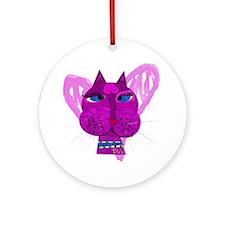 Diva Kitty Round Ornament
