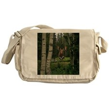 Moose at water hole Messenger Bag