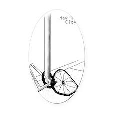 NYC Bike S Oval Car Magnet
