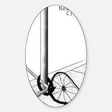 NYC Bike L Sticker (Oval)