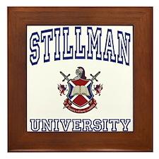 STILLMAN University Framed Tile