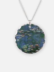 Claude Monet Water Lilies Necklace