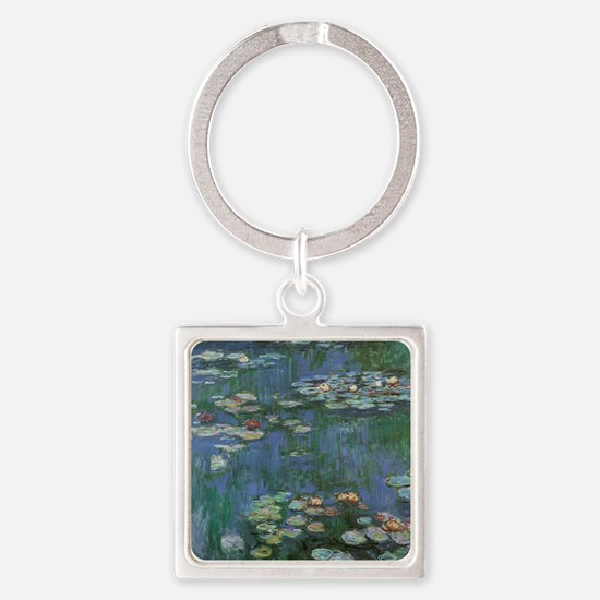 Claude Monet Water Lilies Square Keychain