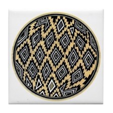 TEXTILE BOWL DESIGN Tile Coaster