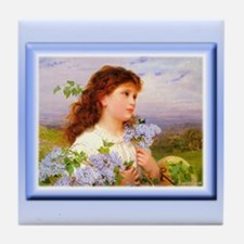 The Time of the Lilacs Tile Coaster
