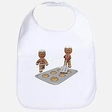 Gingerbread Men Defense Bib