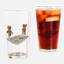 Gingerbread Men Defense Drinking Glass