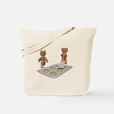Gingerbread Men Defense Tote Bag