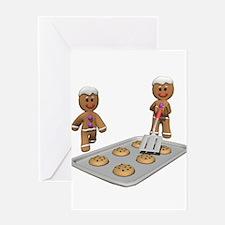 Gingerbread Men Defense Greeting Card