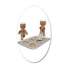 Gingerbread Men Defense Wall Decal