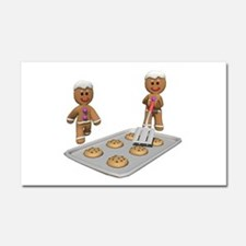 Gingerbread Men Defense Car Magnet 20 x 12