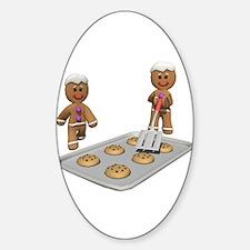 Gingerbread Men Defense Sticker (Oval)