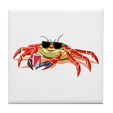 Cool Cancer Crab Tile Coaster