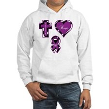 CF Faith Hope Cure Sq Hoodie