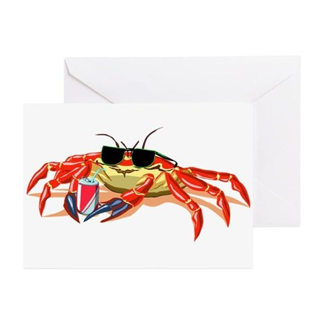Cool Cancer Crab Greeting Cards (Pk of 10)