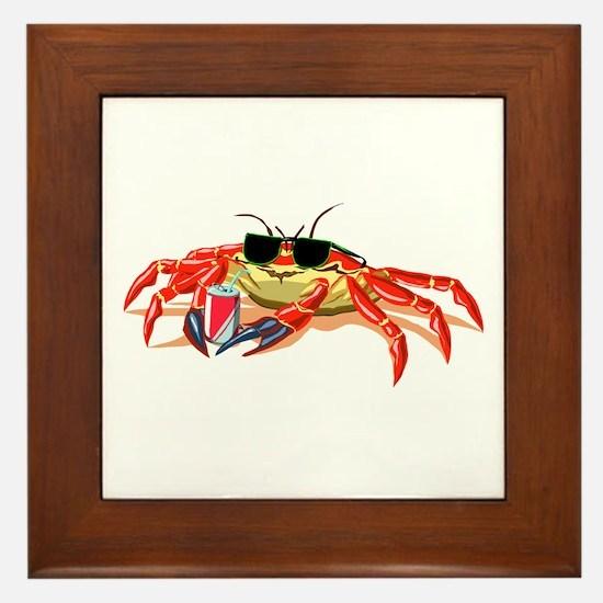 Cool Cancer Crab Framed Tile